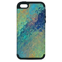 Colorful Patterned Glass Texture Background Apple iPhone 5 Hardshell Case (PC+Silicone)