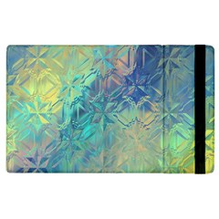 Colorful Patterned Glass Texture Background Apple iPad 2 Flip Case