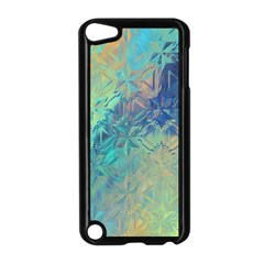 Colorful Patterned Glass Texture Background Apple iPod Touch 5 Case (Black)