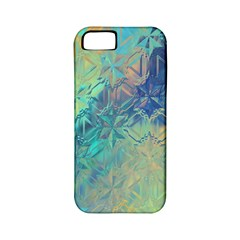 Colorful Patterned Glass Texture Background Apple Iphone 5 Classic Hardshell Case (pc+silicone)