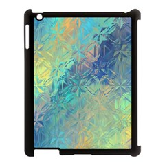 Colorful Patterned Glass Texture Background Apple iPad 3/4 Case (Black)