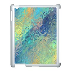 Colorful Patterned Glass Texture Background Apple iPad 3/4 Case (White)
