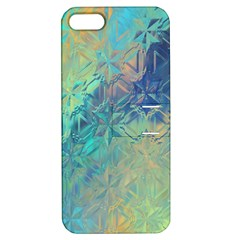 Colorful Patterned Glass Texture Background Apple iPhone 5 Hardshell Case with Stand