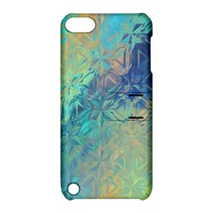 Colorful Patterned Glass Texture Background Apple iPod Touch 5 Hardshell Case with Stand
