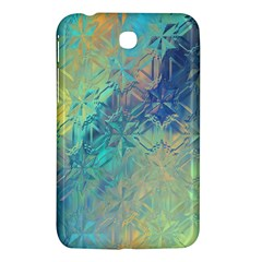 Colorful Patterned Glass Texture Background Samsung Galaxy Tab 3 (7 ) P3200 Hardshell Case