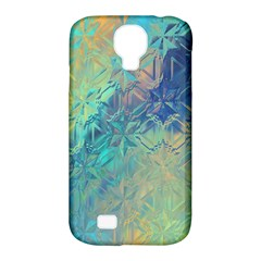 Colorful Patterned Glass Texture Background Samsung Galaxy S4 Classic Hardshell Case (PC+Silicone)
