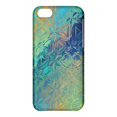 Colorful Patterned Glass Texture Background Apple Iphone 5c Hardshell Case