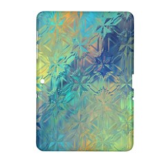 Colorful Patterned Glass Texture Background Samsung Galaxy Tab 2 (10.1 ) P5100 Hardshell Case