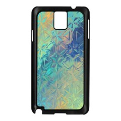 Colorful Patterned Glass Texture Background Samsung Galaxy Note 3 N9005 Case (black)