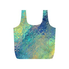 Colorful Patterned Glass Texture Background Full Print Recycle Bags (s)