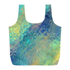 Colorful Patterned Glass Texture Background Full Print Recycle Bags (L)