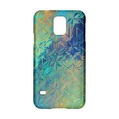 Colorful Patterned Glass Texture Background Samsung Galaxy S5 Hardshell Case