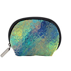 Colorful Patterned Glass Texture Background Accessory Pouches (Small)