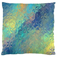 Colorful Patterned Glass Texture Background Standard Flano Cushion Case (One Side)