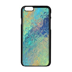 Colorful Patterned Glass Texture Background Apple iPhone 6/6S Black Enamel Case
