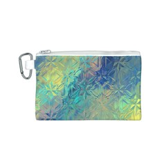Colorful Patterned Glass Texture Background Canvas Cosmetic Bag (s)