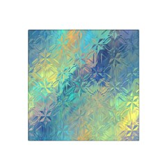 Colorful Patterned Glass Texture Background Satin Bandana Scarf