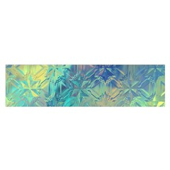 Colorful Patterned Glass Texture Background Satin Scarf (Oblong)
