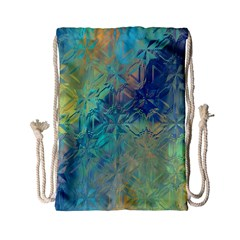 Colorful Patterned Glass Texture Background Drawstring Bag (small)