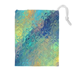 Colorful Patterned Glass Texture Background Drawstring Pouches (extra Large)