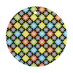 Diamond Argyle Pattern Colorful Diamonds On Argyle Style Ornament (round)