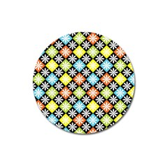 Diamond Argyle Pattern Colorful Diamonds On Argyle Style Magnet 3  (Round)
