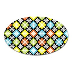Diamond Argyle Pattern Colorful Diamonds On Argyle Style Oval Magnet