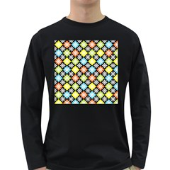 Diamond Argyle Pattern Colorful Diamonds On Argyle Style Long Sleeve Dark T-Shirts