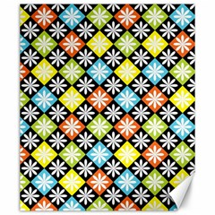 Diamond Argyle Pattern Colorful Diamonds On Argyle Style Canvas 20  X 24