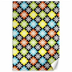 Diamond Argyle Pattern Colorful Diamonds On Argyle Style Canvas 24  x 36