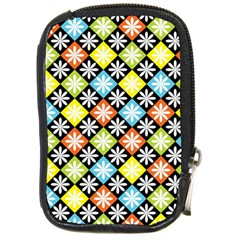 Diamond Argyle Pattern Colorful Diamonds On Argyle Style Compact Camera Cases