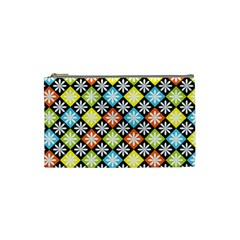 Diamond Argyle Pattern Colorful Diamonds On Argyle Style Cosmetic Bag (small)