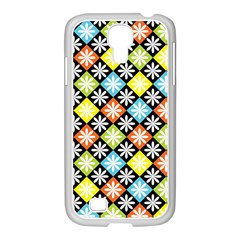 Diamond Argyle Pattern Colorful Diamonds On Argyle Style Samsung Galaxy S4 I9500/ I9505 Case (white)