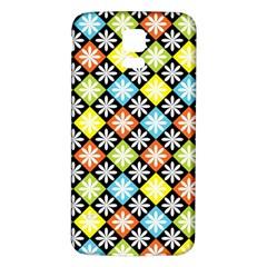 Diamond Argyle Pattern Colorful Diamonds On Argyle Style Samsung Galaxy S5 Back Case (white)
