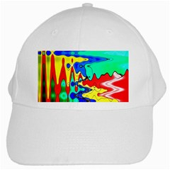 Bright Colours Abstract White Cap