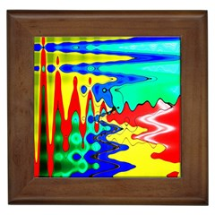Bright Colours Abstract Framed Tiles