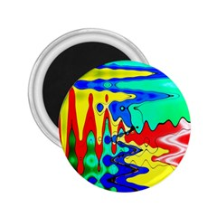 Bright Colours Abstract 2.25  Magnets