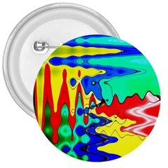 Bright Colours Abstract 3  Buttons