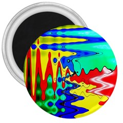 Bright Colours Abstract 3  Magnets