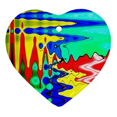 Bright Colours Abstract Ornament (heart)