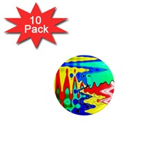 Bright Colours Abstract 1  Mini Magnet (10 pack)