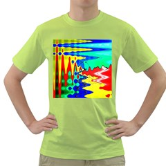 Bright Colours Abstract Green T Shirt