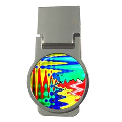 Bright Colours Abstract Money Clips (round)