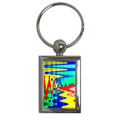 Bright Colours Abstract Key Chains (Rectangle)