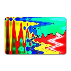 Bright Colours Abstract Magnet (rectangular)