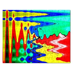 Bright Colours Abstract Rectangular Jigsaw Puzzl