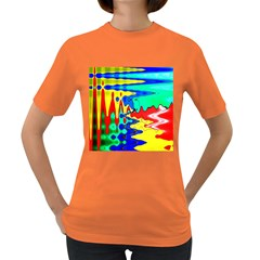 Bright Colours Abstract Women s Dark T-Shirt