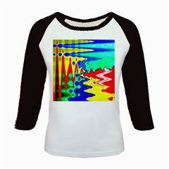 Bright Colours Abstract Kids Baseball Jerseys