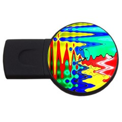Bright Colours Abstract Usb Flash Drive Round (4 Gb)