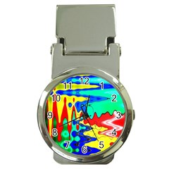 Bright Colours Abstract Money Clip Watches